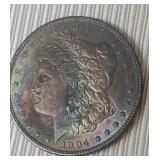 1904 Silver One Dollar Coin