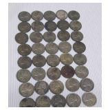 Lot of 40 nickels