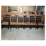 Set of 6 Modern Ladderback Ranch Style Chairs