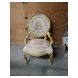 Beautiful Beige Victorian Upholstered Chair