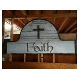 Beautiful Barn Style Large Solid Wood FAITH Sign