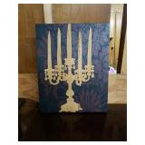 Awesome Carved Wood candle opera picture