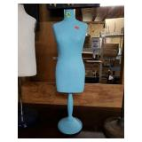 Vintage Blue Mannequin Stand with Base