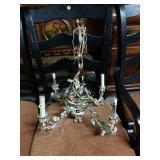 Vintage rusty crusty shabby chandelier