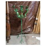 Beautiful Tall Metal Candle Holder with Berries