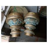 BEAUTIFUL Pair of Solid Wood Wall Hanging Pieces