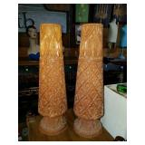 Beautiful Solid Teak Wood Carved Vases