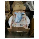 VINTAGE Doll Bed and Vintage Cabbage Patch doll