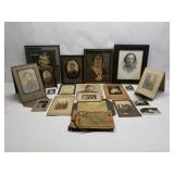 Misc lot of Antique Photographs and Scrapbook