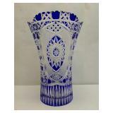 Gorgeous Meissen Etched Crystal Vase
