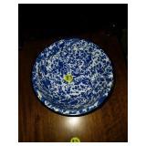 Beautiful Blue Splattered Enamel Bowl