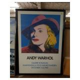 """Framed Andy Warhol """"With Hat"""" Poster 1983"""
