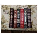 6 Leather-Bound Library Military History Books