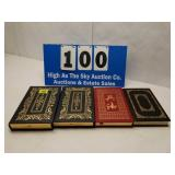Lot of 4 Leather-Bound Library of Military Books