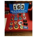 Lot of 18 misc Military Badges Patches