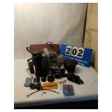 Vintage Nikon Camera with Attachments and Case