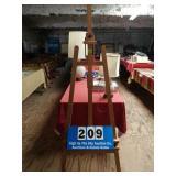 Large wooden art easel