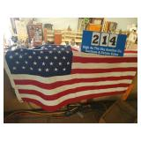 Vintage American Flag with 49 Stars