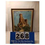 Large Framed Oil on Canvas Signed Montay