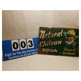 Vintage Natural Chilean Soda - Uncle Natchel Sign