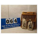 Vintage Wooden Mammy Display Rack & 2 Bags