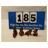 Lot of 4 Black Americana Small Figurines
