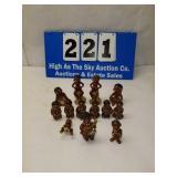 Lot of 13 Vintage Black Americana Native Figurines