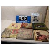 Vintage Lot of 7 Vinyl Record Books