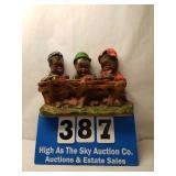Vintage Black Americana Chalkware Three Children