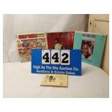 Vintage lot of 3 Black Americana Records & Book