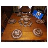 Vintage 6 Place Setting Of Frankoma Dishes