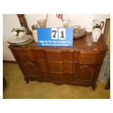Beautiful French Provincial Solid Wood Server