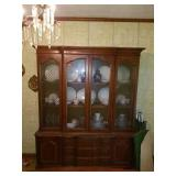 French Provincial Solid Wood China Cabinet