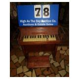 Childs piano with stool