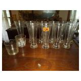 Lot of 12 Clear Crystal Glasses