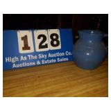Blue stoneware pitcher
