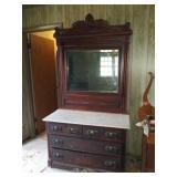 Marble top dresser