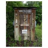 Old Outhouse and contents inside and out