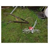 Modern and Antique Plow Seeder Lot