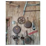 Estate Lot of Cast Iron Tools