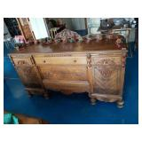 Stunning Carved Wood Buffet