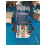 Antique Glider Rocker Adjustable Back