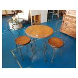 Vintage Ice Cream Parlor Table & 2 Chairs