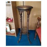 Beautiful Solid Wood Barley Twist Plant Stand