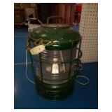 Vintage Green Ship Lantern with Clear Glass