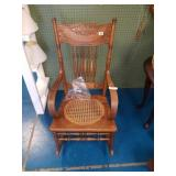 Nice Antique Oak Rocking Chair