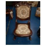 Vintage folding Victorian Rocking Chair