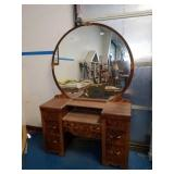 Beautiful Antique Waterfall Vanity Dresser
