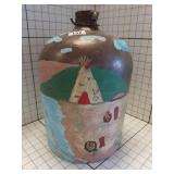 Vintage #3 hand painted clay Dream jug Pottery