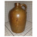 Antique Pottery Whiskey jug with handle